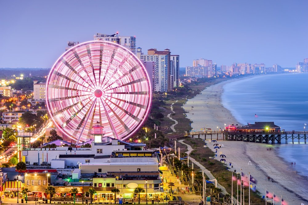 Myrtle Beach SkyWheel at sunset