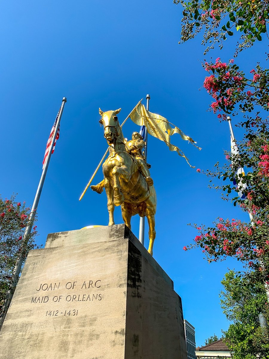 Joan of Arc Statue in the French Quarter in New Orleans