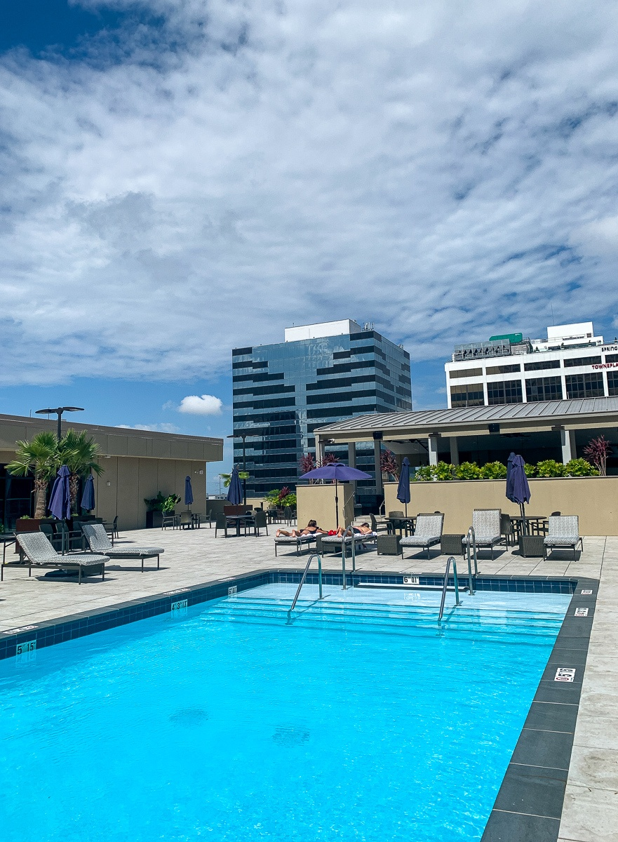 The Jung Hotel & Residences rooftop pool in New Orleans