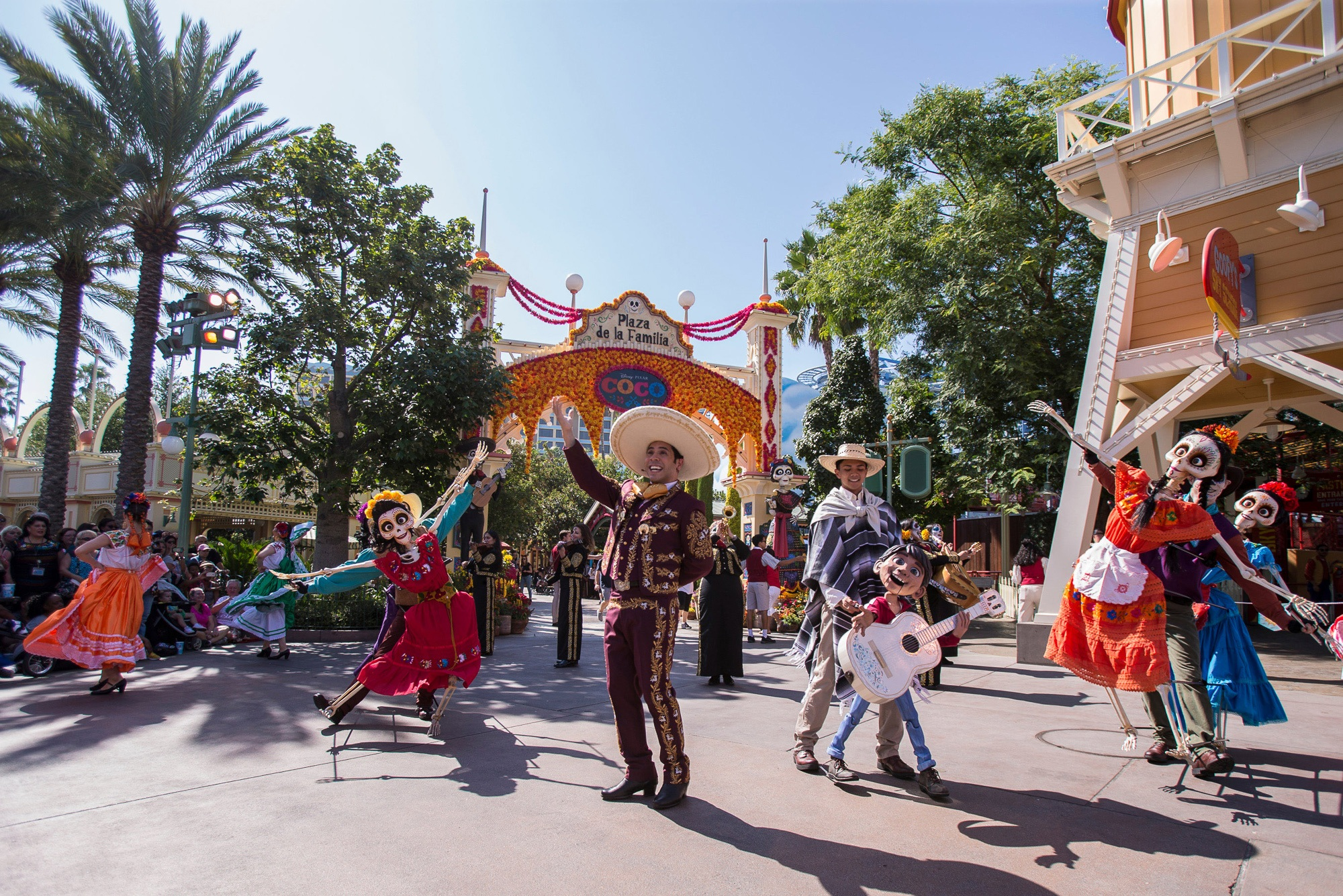 Dia de los Muertos Musical Celebration of Coco at Disney California Adventure