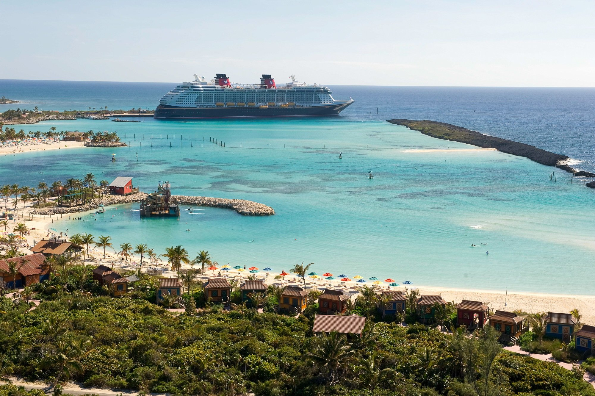 Disney Dream docked at Disney's Castaway Cay
