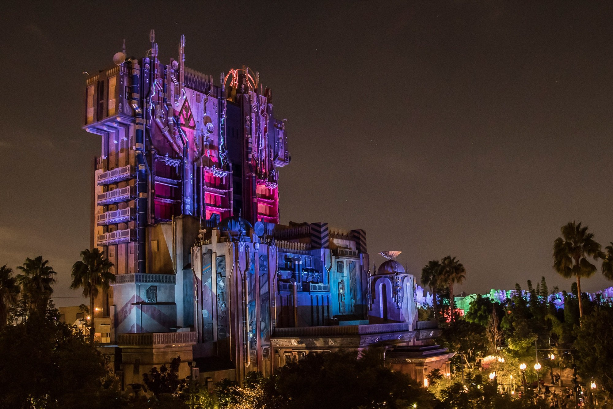 Guardians of the Galaxy–Monsters After Dark! during Halloween at Disney California Adventure Park