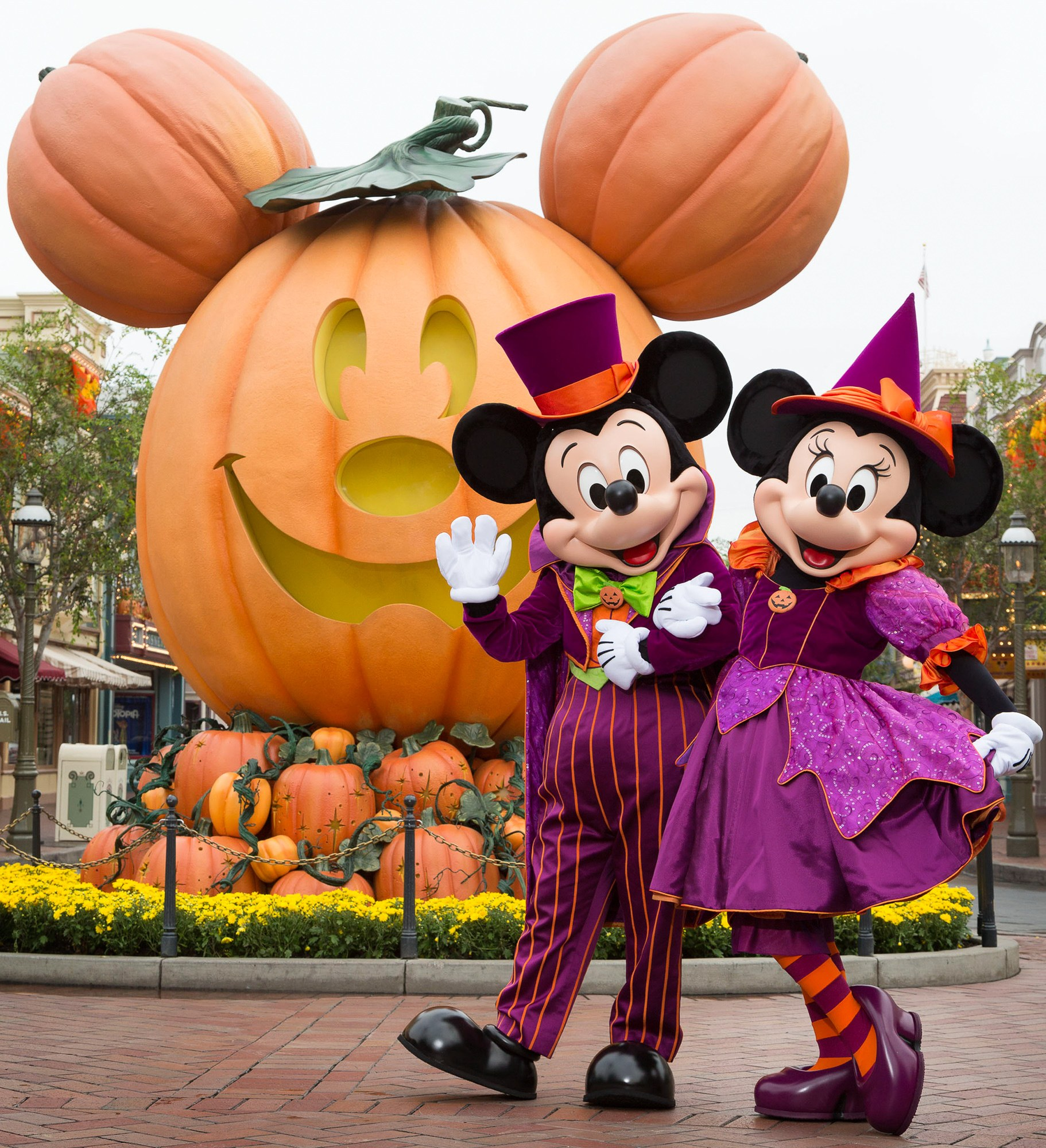 Even Mickey and Minnie dress up for Halloween at Disneyland