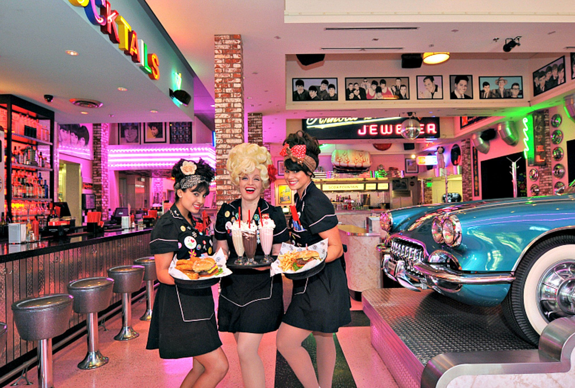 Corvette Diner at Liberty Station in San Diego with kids (Photo credit: Corvette Diner)