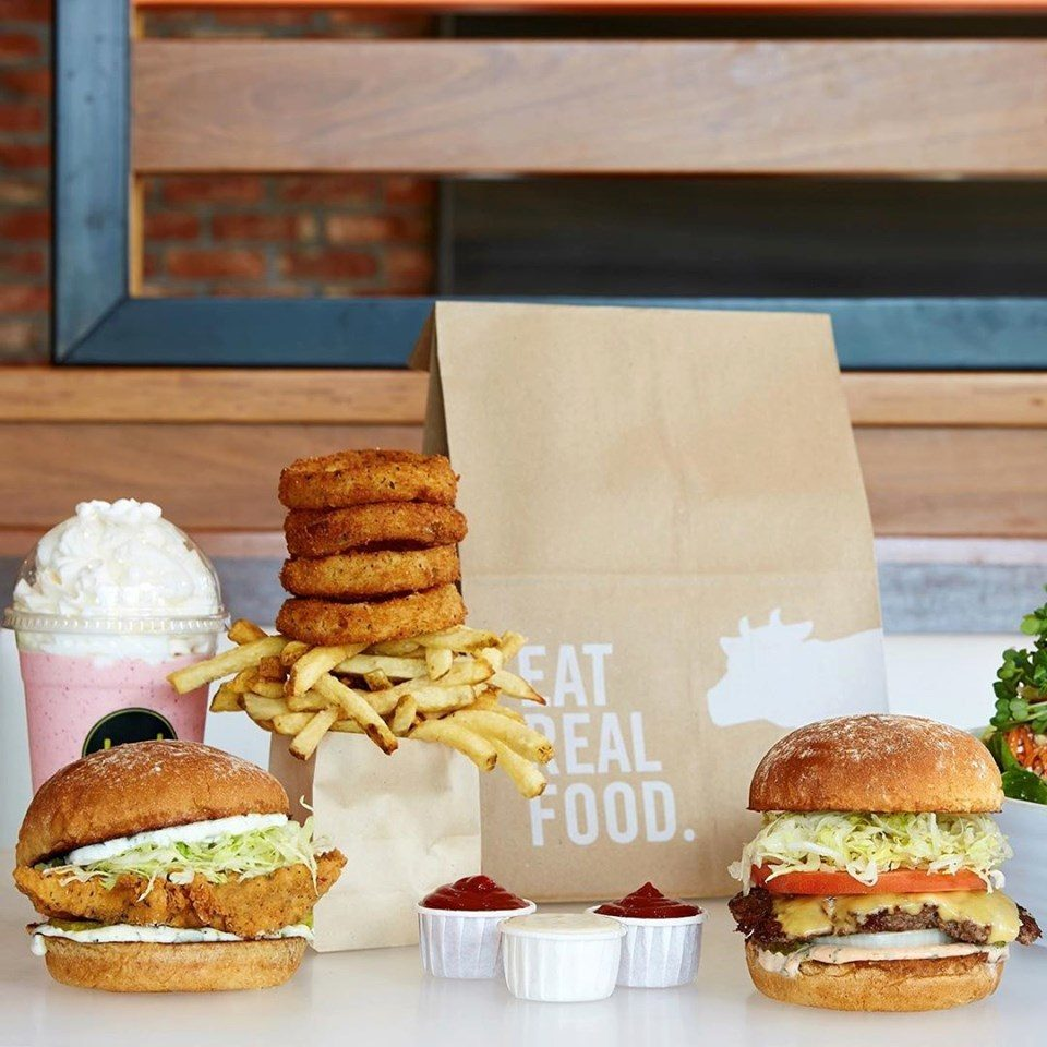 An array of Burger Lounge offerings