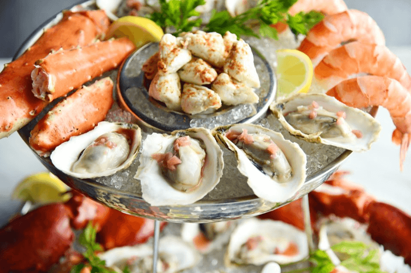 Grand Shellfish Tower at Oceanaire Seafood Room in San Diego Gaslamp
