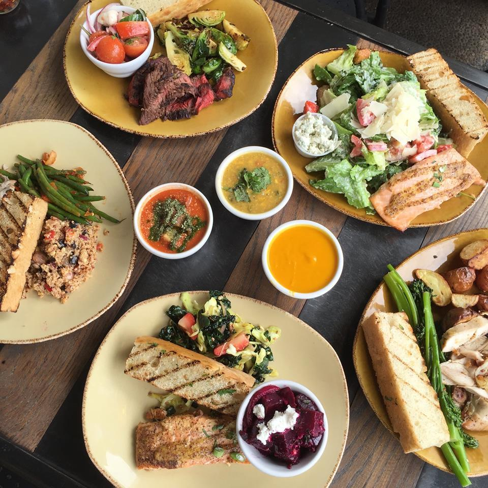 Plates, salads and sandwiches at Urban Plates in San Diego