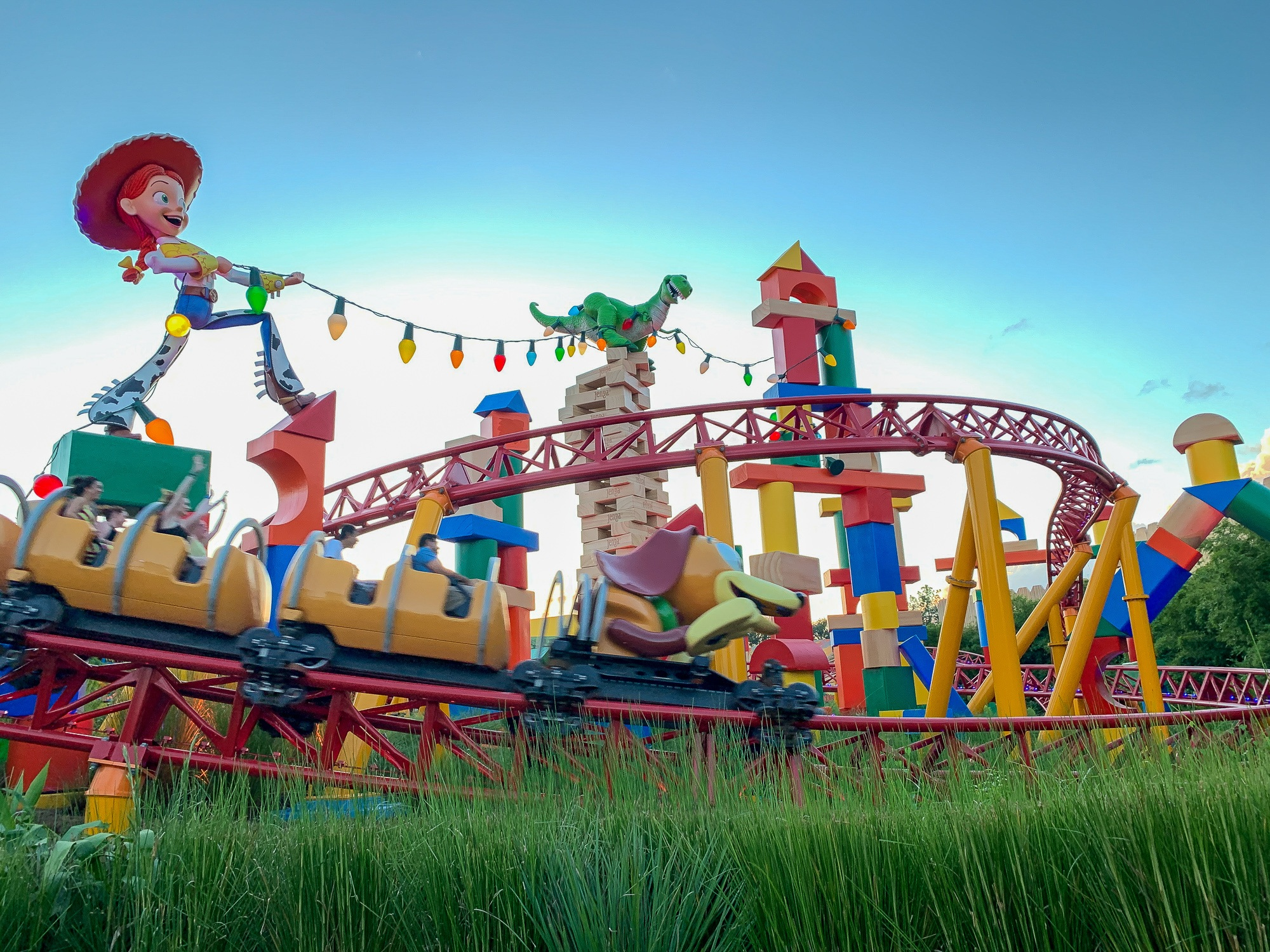 Slinky Dog Dash roller coaster at Disney's Hollywood Studios