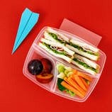 A packed travel lunch
