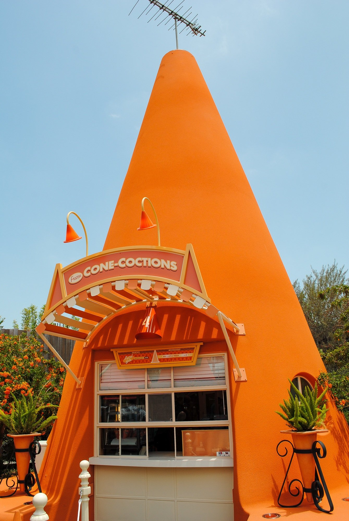 Cozy Cone Motel at Disney Cars theme park