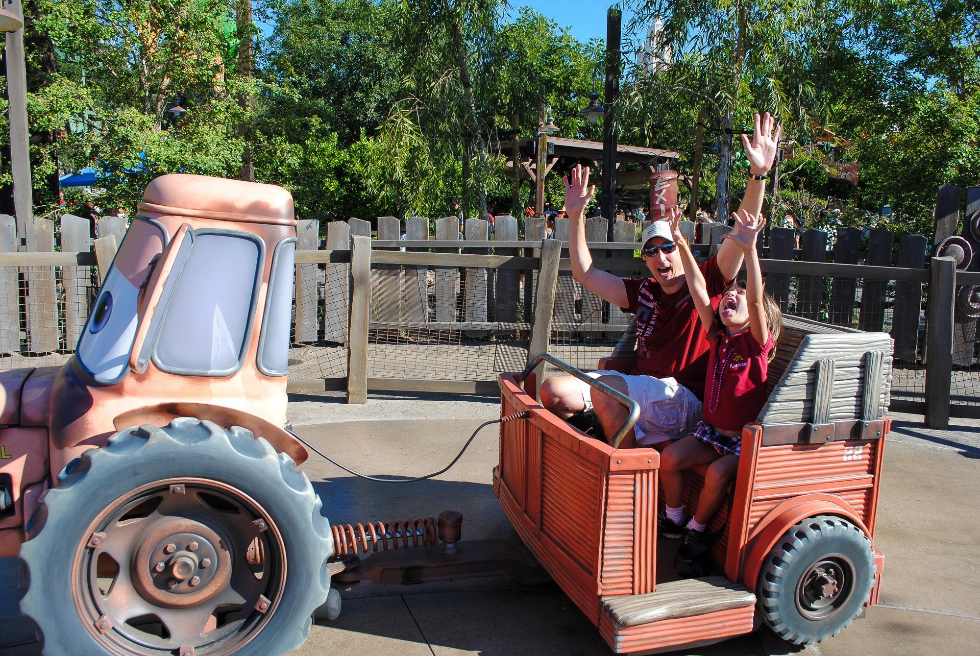 YoMater's Junkyard Jamboree in Cars Land with kids