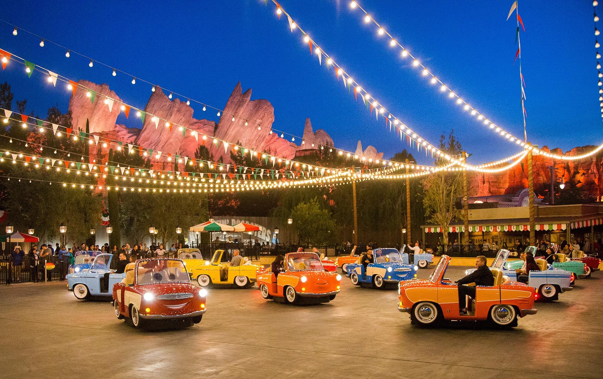 Luigi's Rollickin' Roadsters in Cars Land Disney theme park