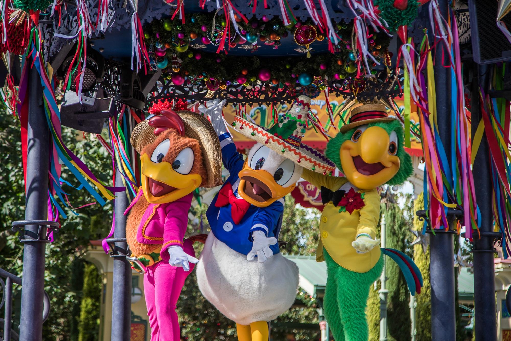 The Three Caballeros at Disney ¡Viva Navidad! at Disney California Adventure