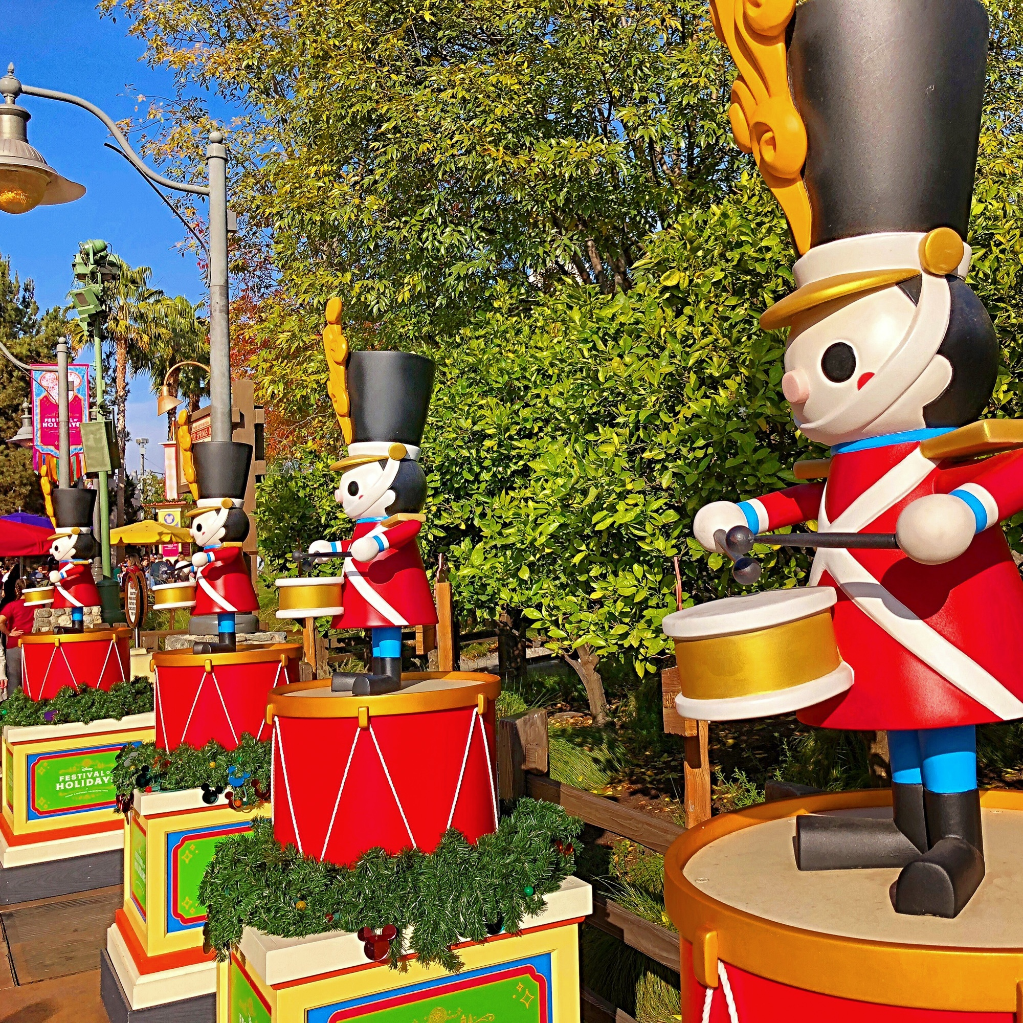 Holiday decorations at Disney California Adventure Park