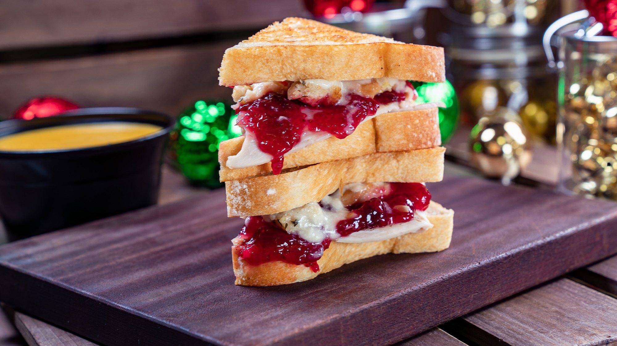 The Thanks-Mas holiday sandwich at Disneyland