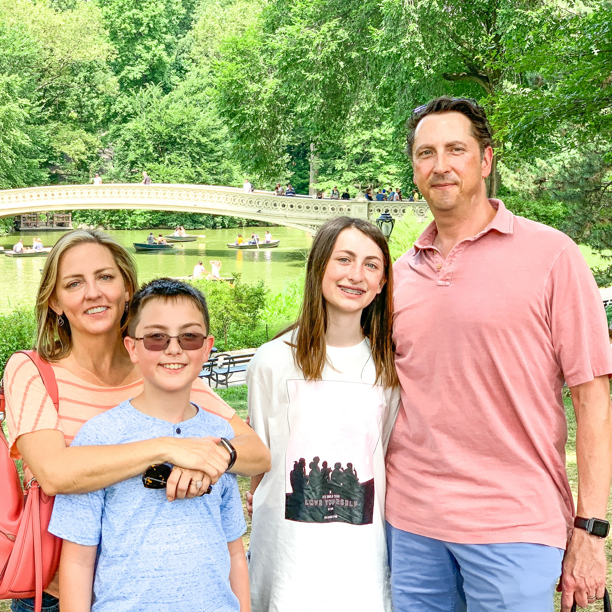 The Travel Mama and family in Central Park, New York City
