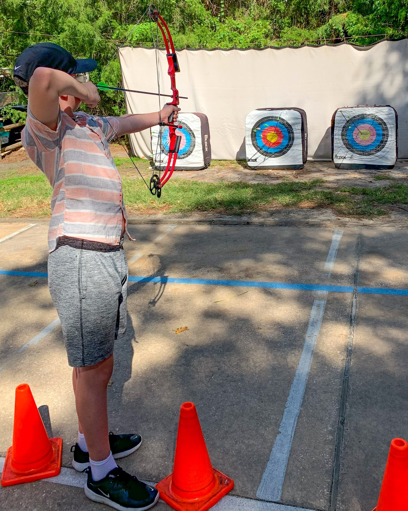 Archery lesson with tweens and teens at Disney's Fort Wilderness Lodge