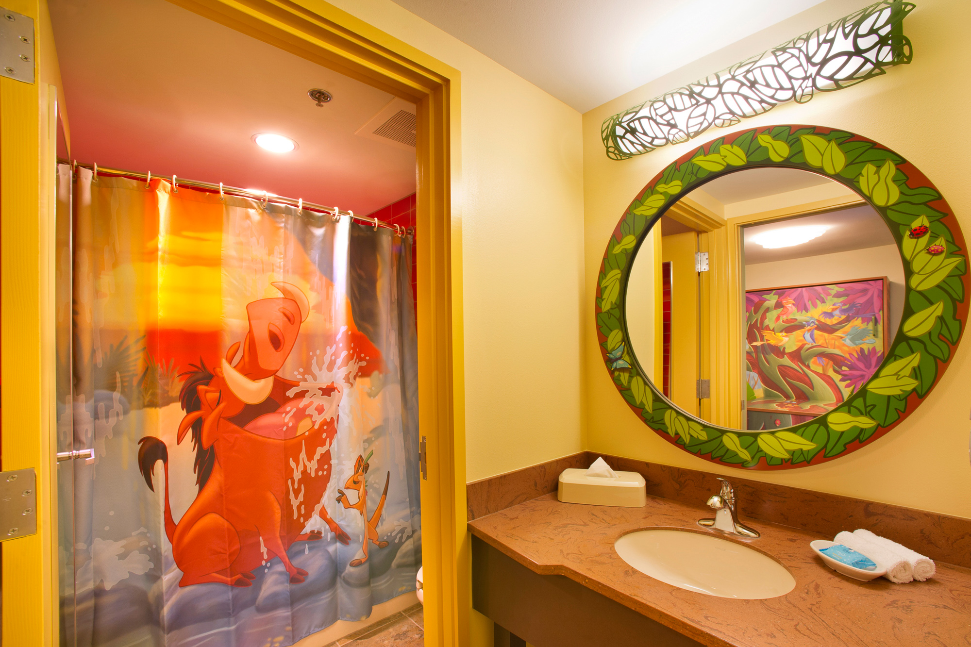 Lion King-themed bathroom at Disney's Art of Animation Resort