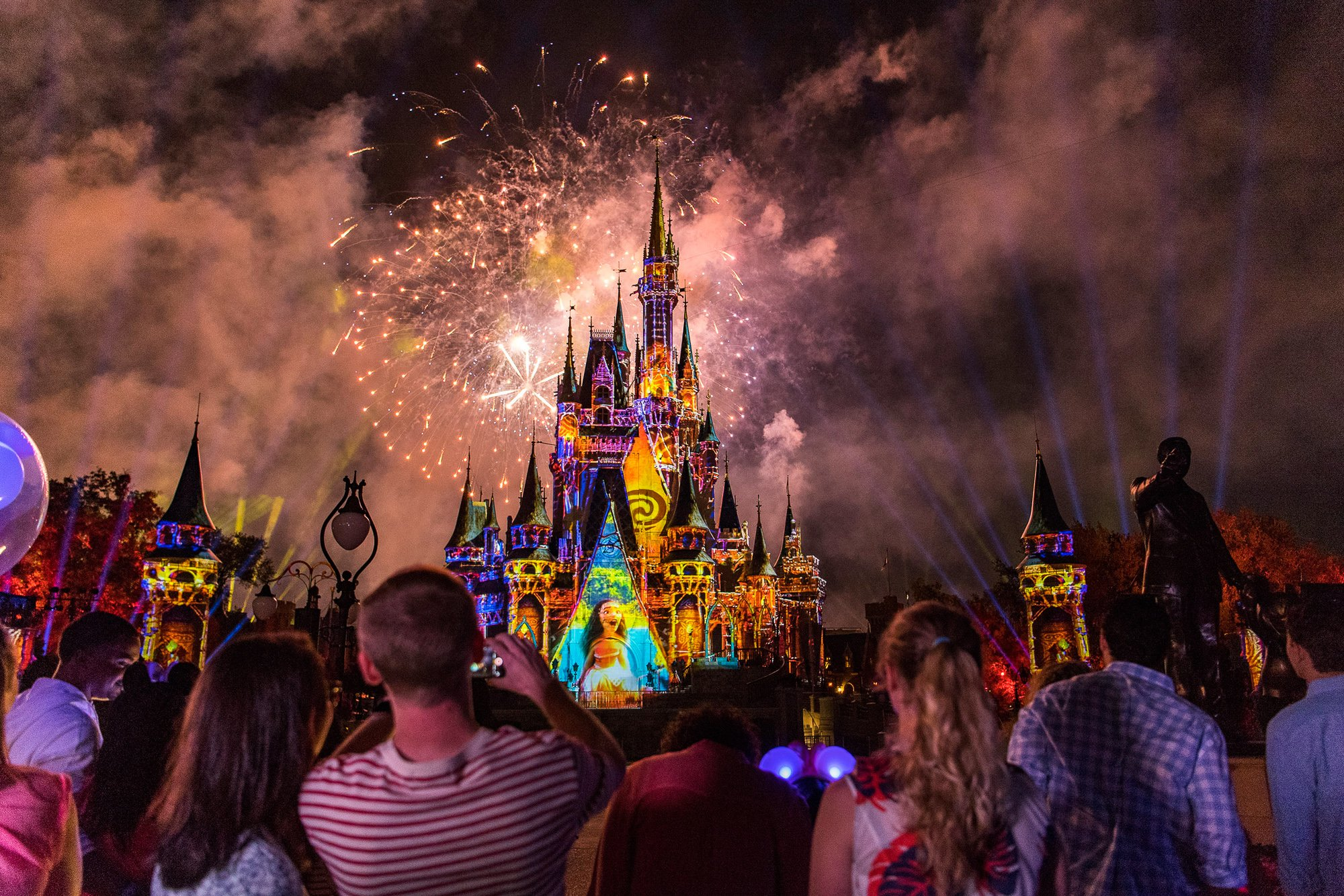 Stay late to watch fireworks at Disney World with teens and tweens