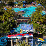 Disneyland Hotel pool and waterslides