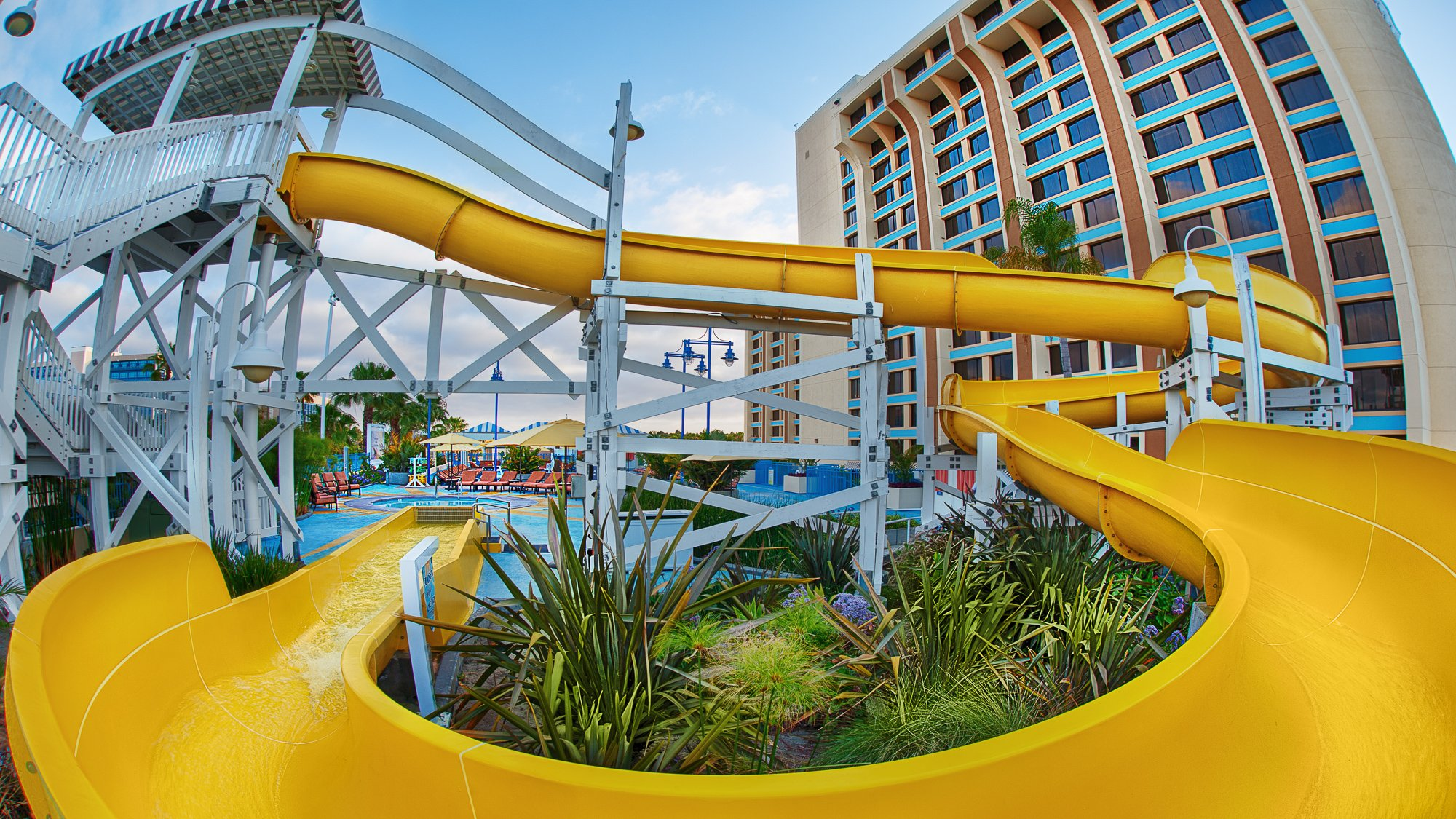 Waterslide at Disney's Paradise Pier Hotel