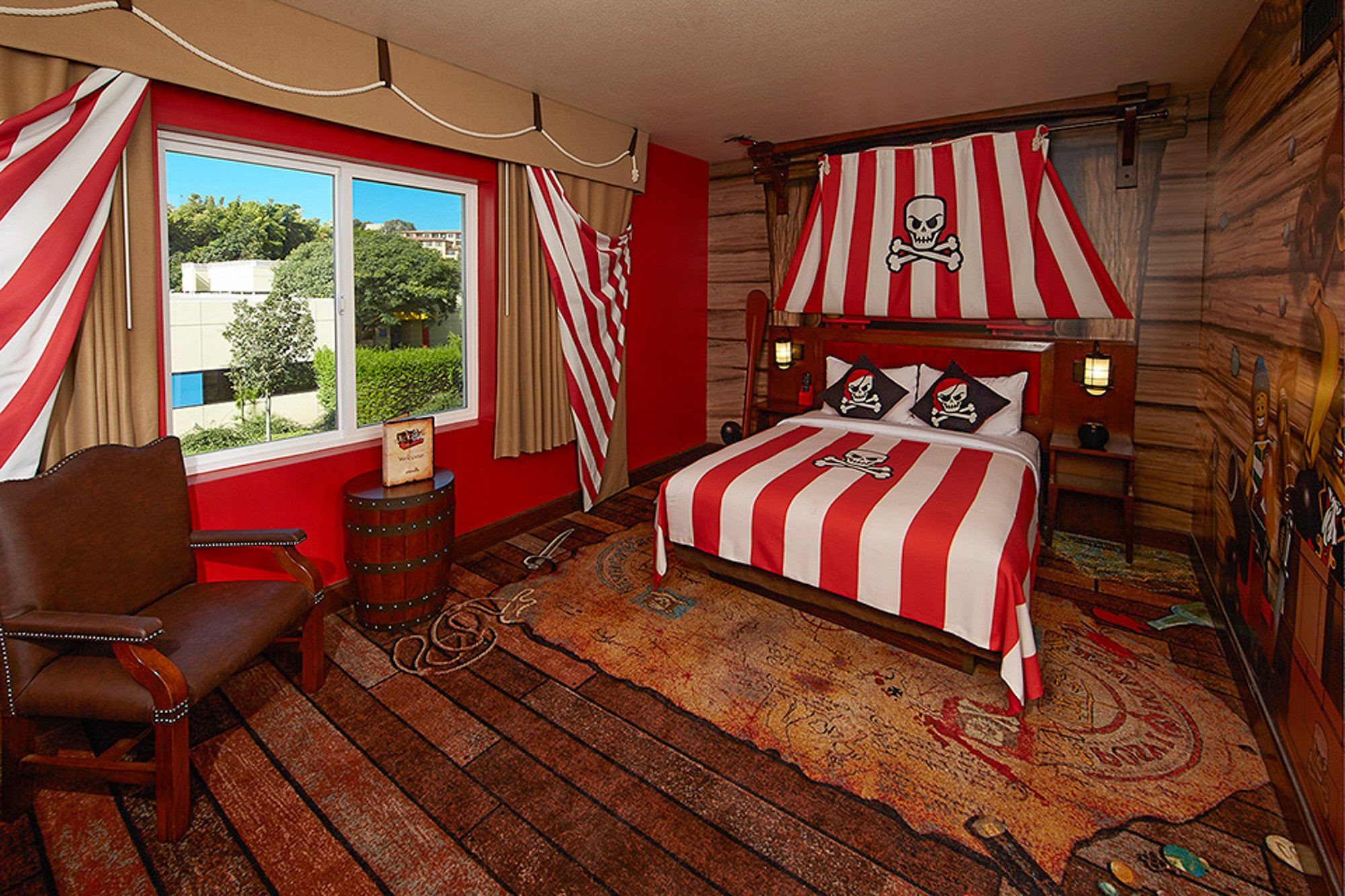 Pirate-themed room at Legoland Hotel in Carlsbad, CA