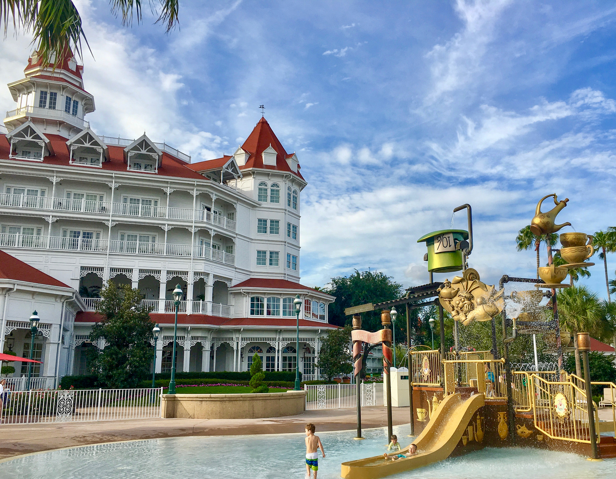 Disney's Grand Floridian splash pad