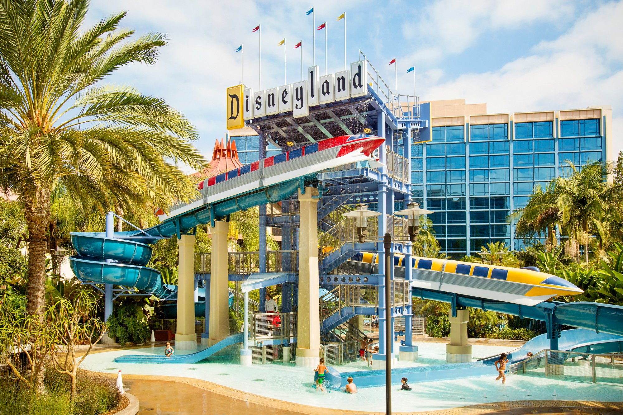 Disneyland Hotel's Monorail Slide Pool