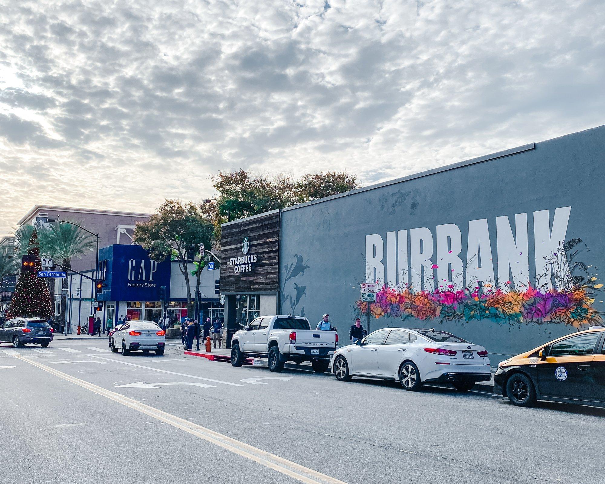 Mural in Downtown Burbank CA