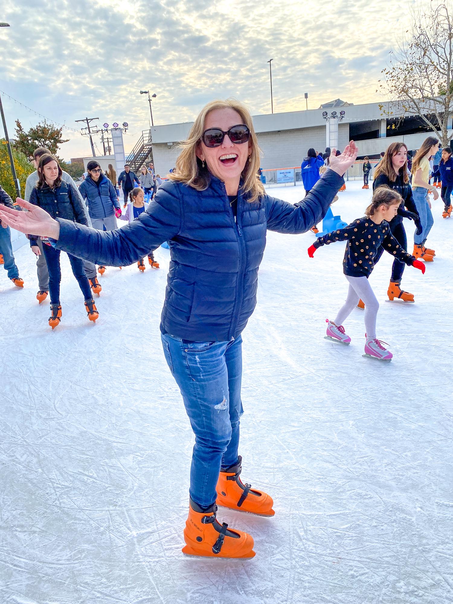 Ice skating at The Rink Downtown Burbank