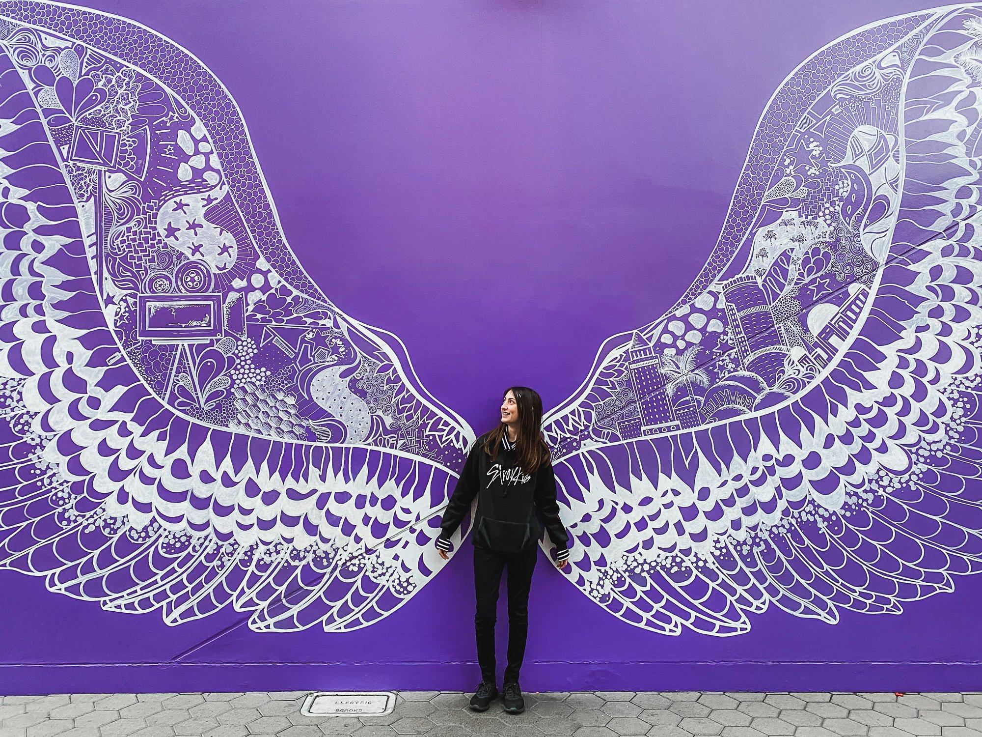 Wing mural at Universal CityWalk in Burbank