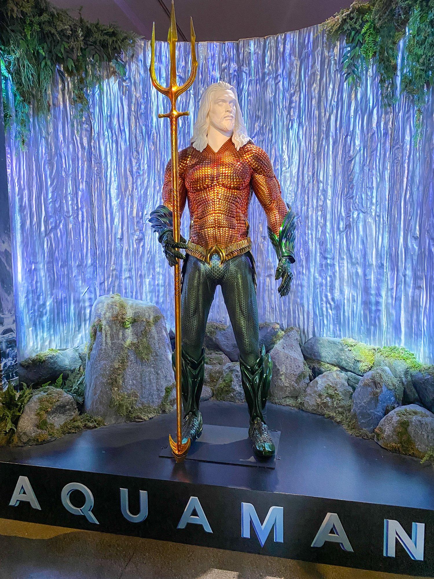 Jason Momoa's custom-made Aquaman costume at Warner Bros. Studio