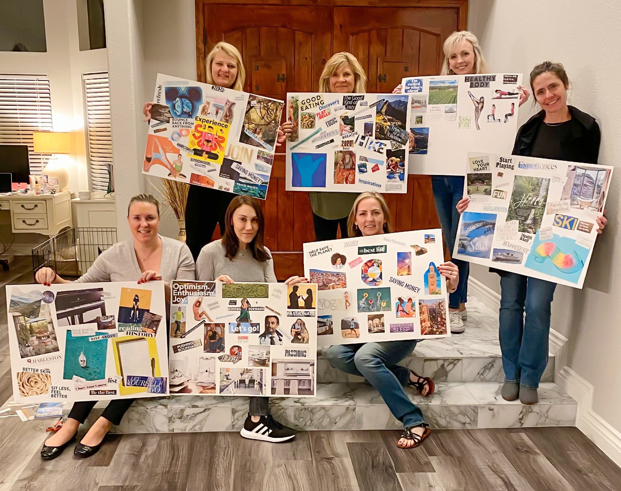 Vision board party results