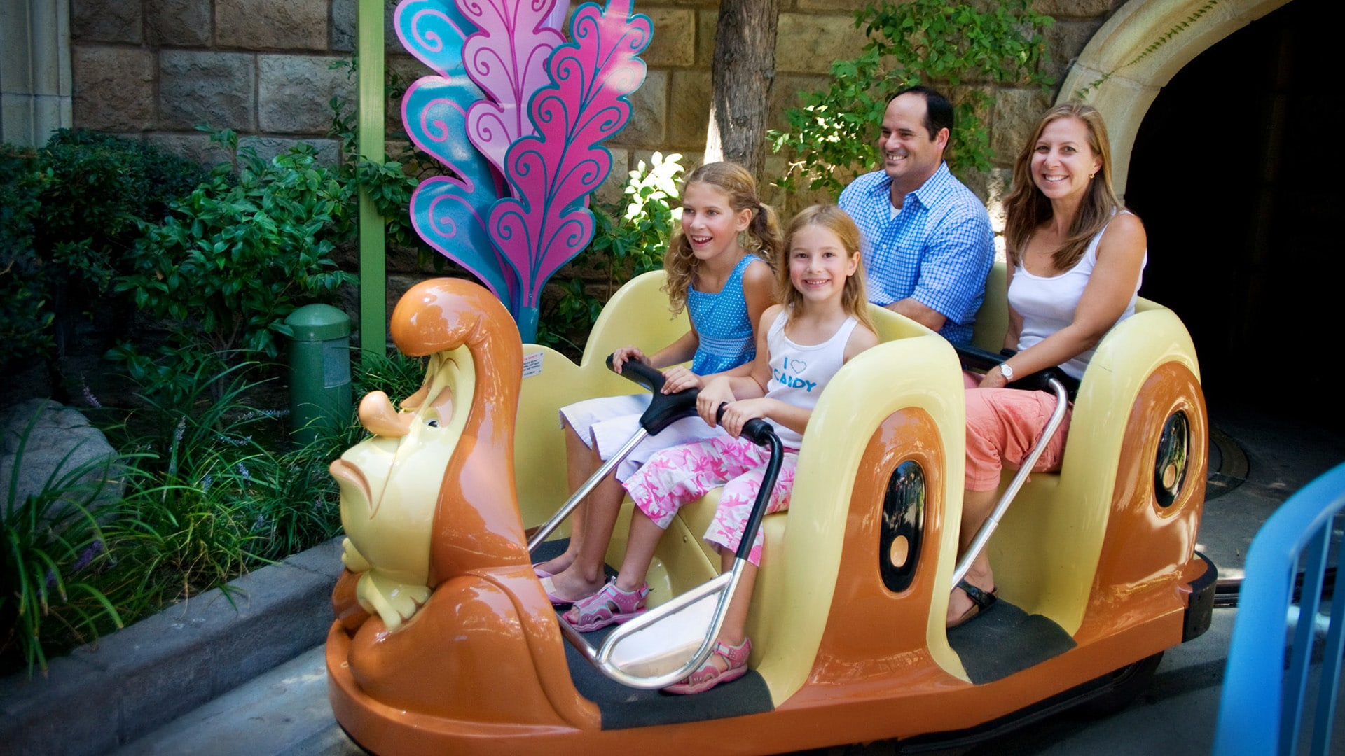 Alice in Wonderland ride in Disneyland