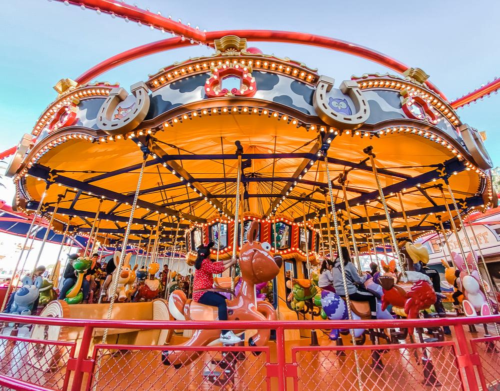Jessie's Critter Carousel at Disney California Adventure