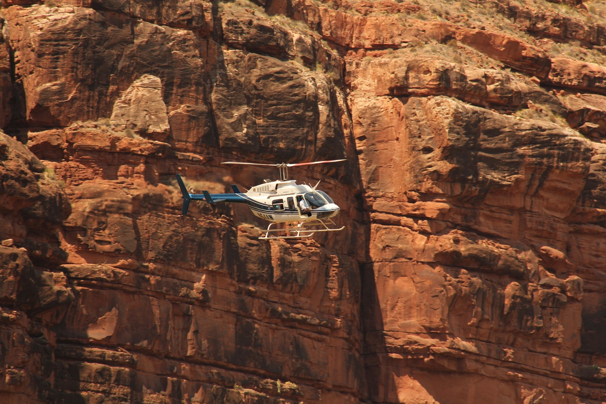 Helicopter at the Grand Canyon