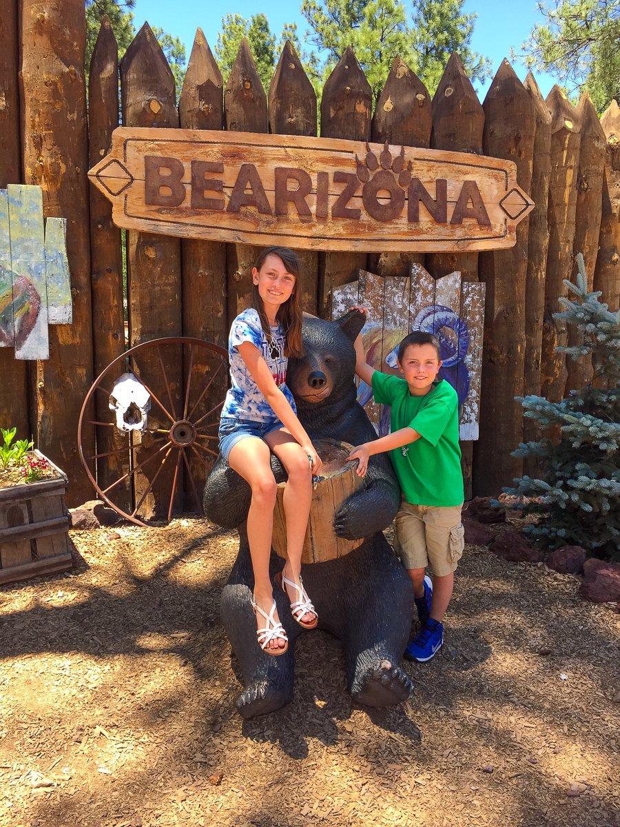 Bearizona with kids