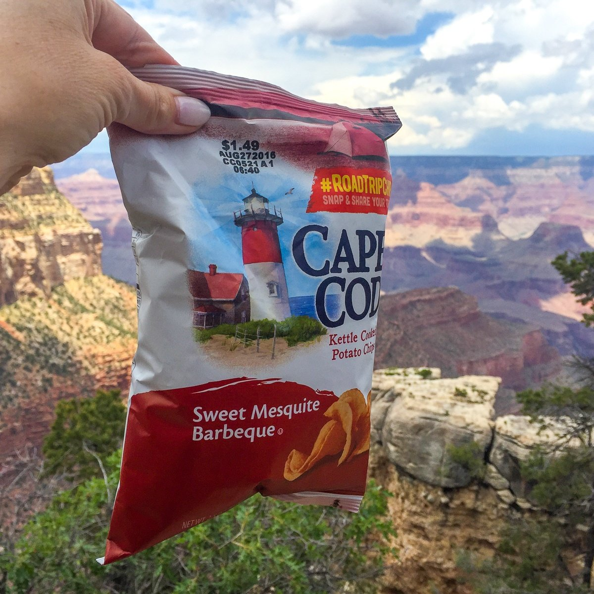 Cape Cod potato chips at the Grand Canyon