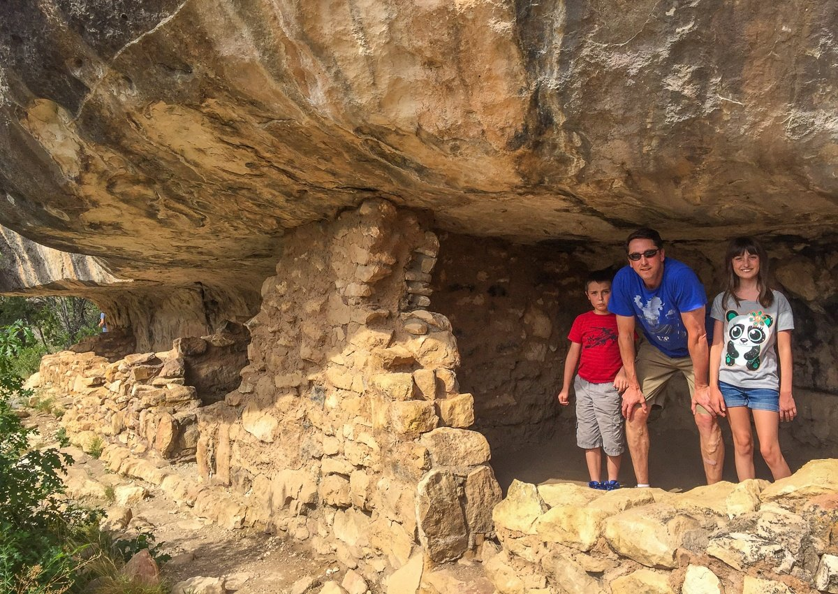Walnut Canyon ancient cliff dwellings once occupied by the Sinagua peoples
