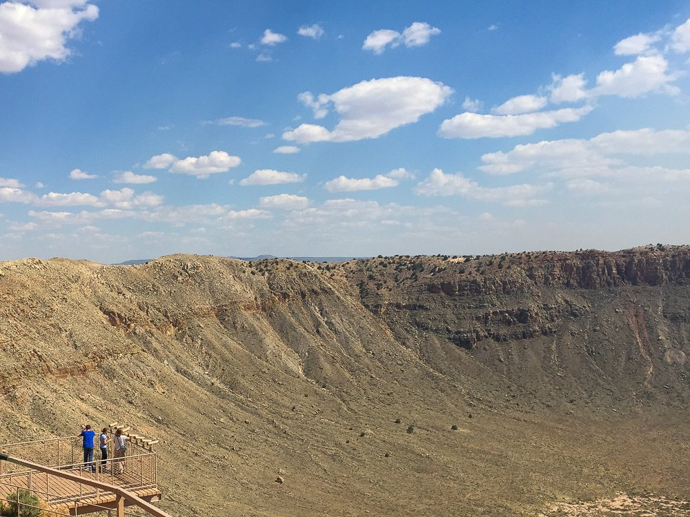 Meteor Crater could fit 20 football fields!