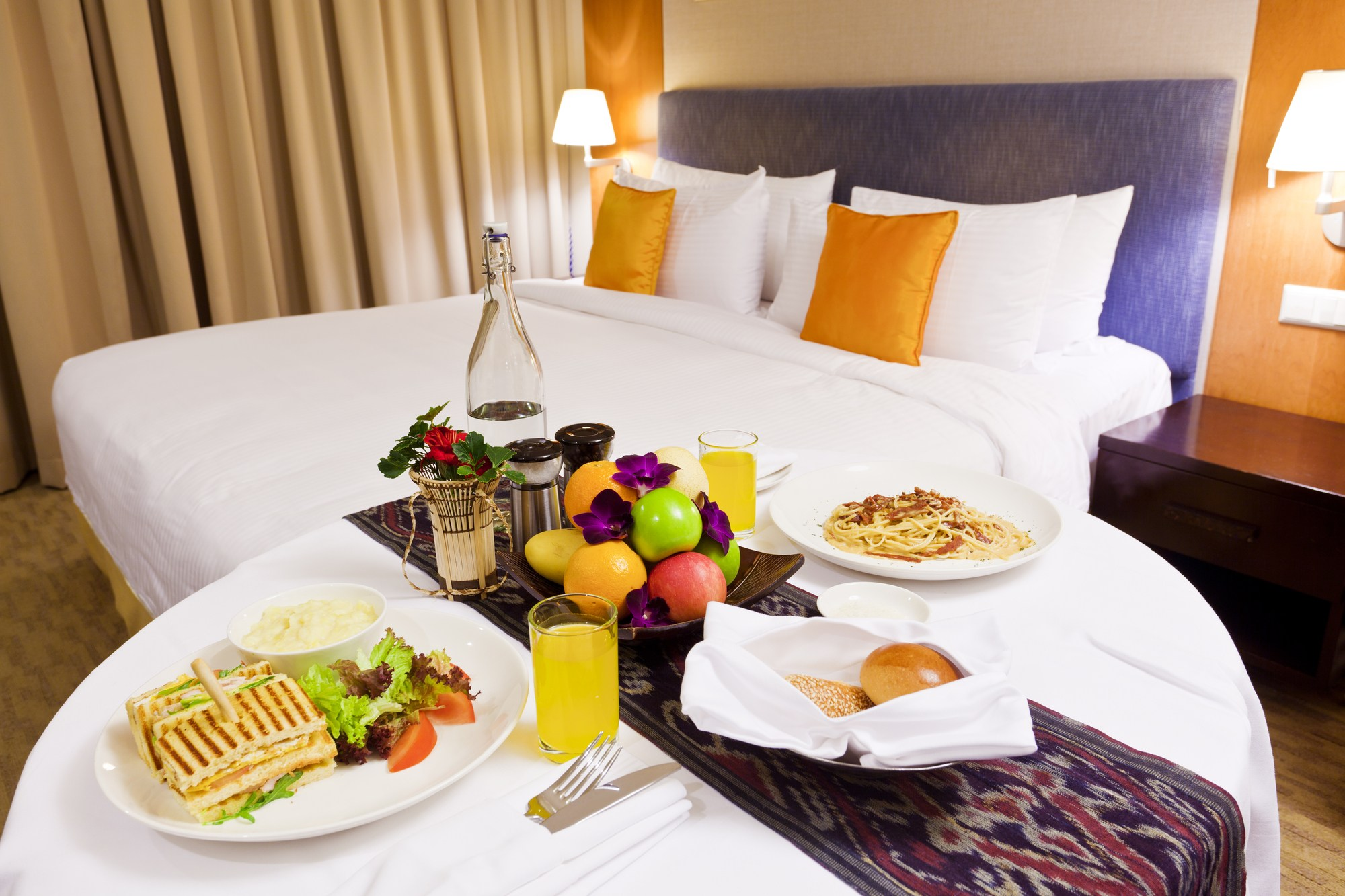 Room service can make travel easier for families