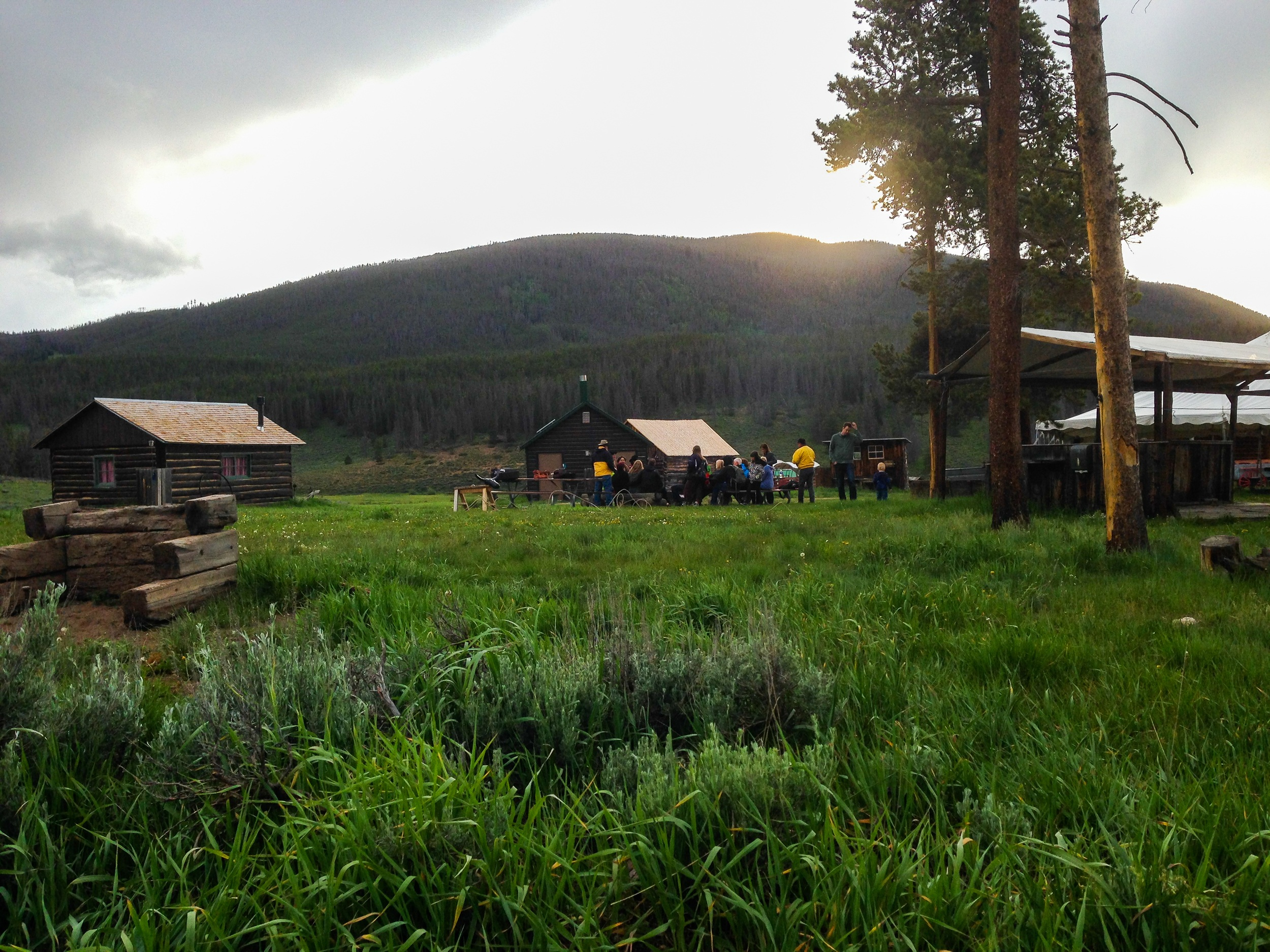 Keystone Wagon Ride Dinner campsite