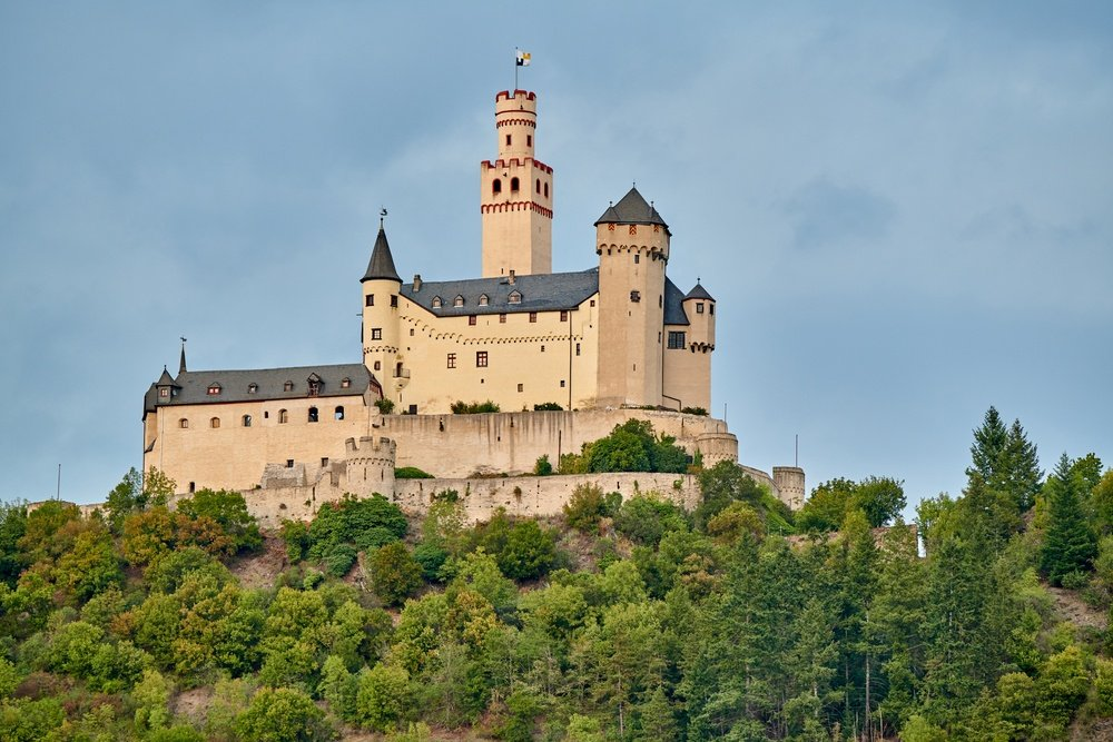Marksburg Castle in Braubach, Germany