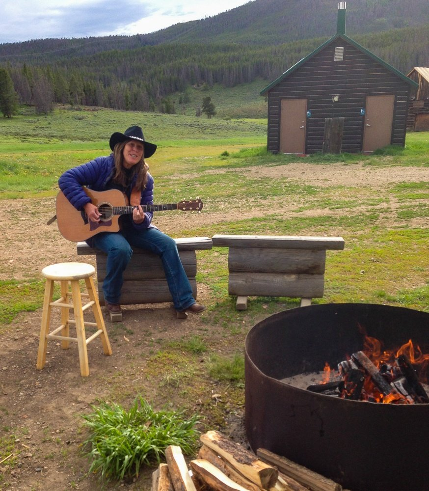 Songs by the campfire in Keystone, CO