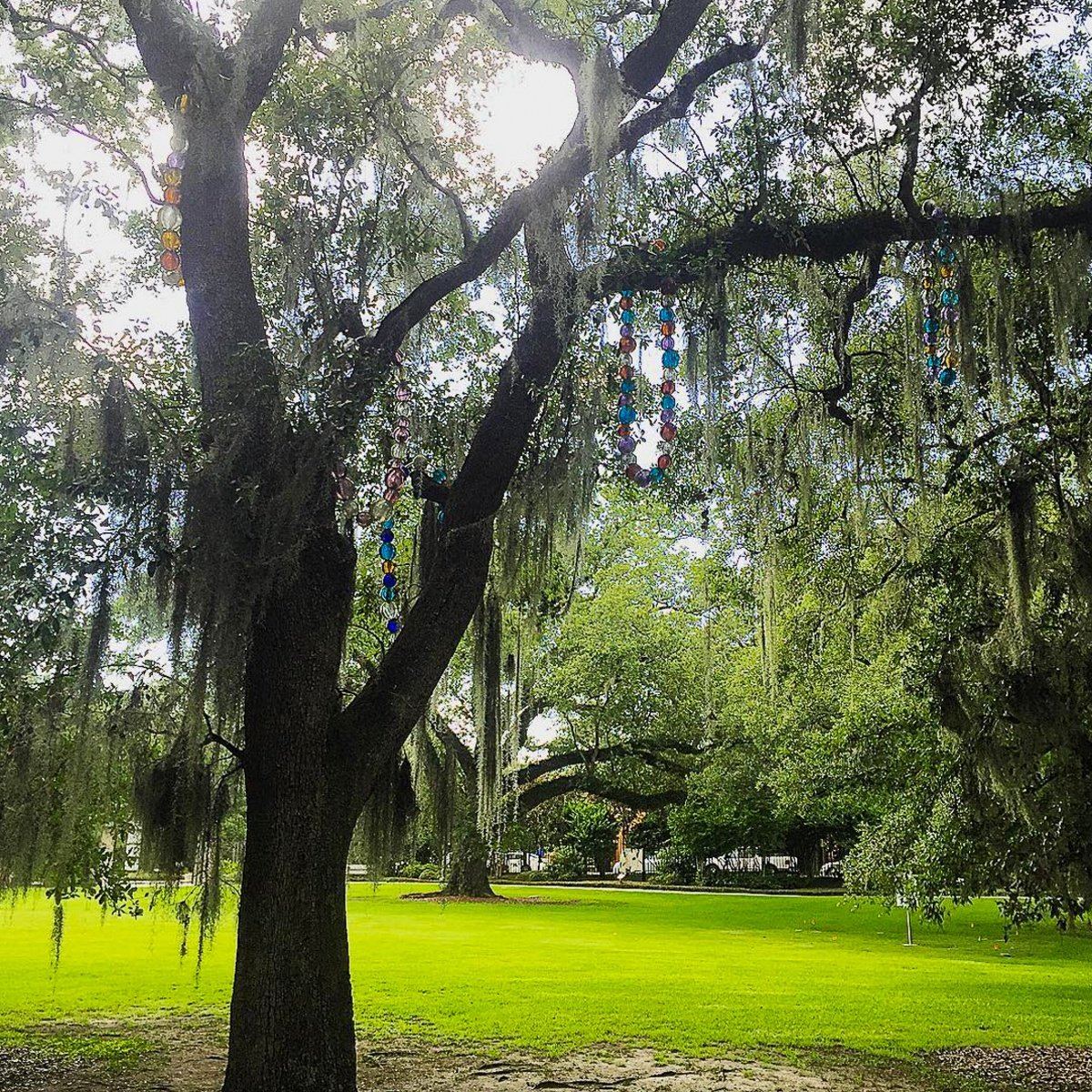 """""""Tree of Necklaces"""" at City Park Sculpture Garden in New Orleans"""