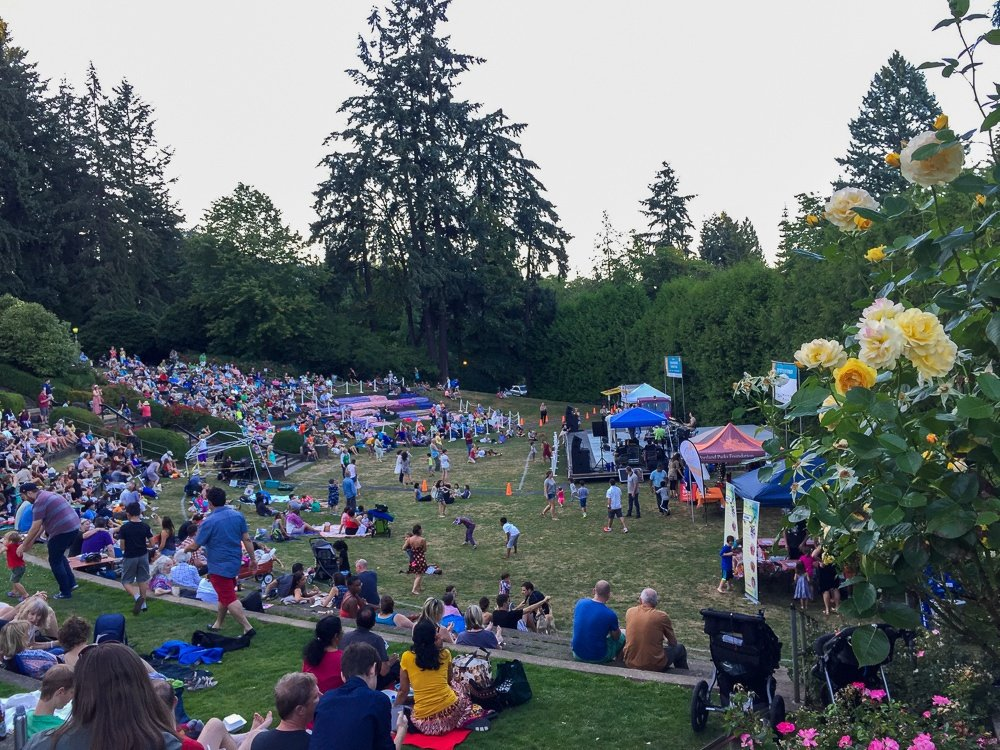 Free summer concert at the Washington Park Amphitheater
