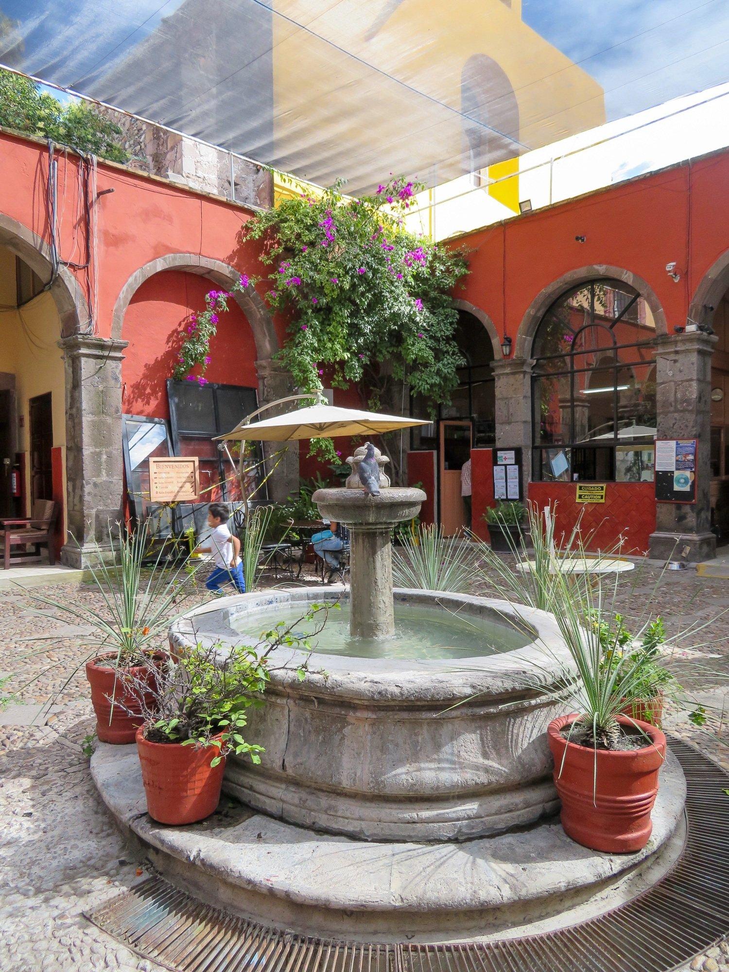 Courtyard at Biblioteca de San Miguel de Allende