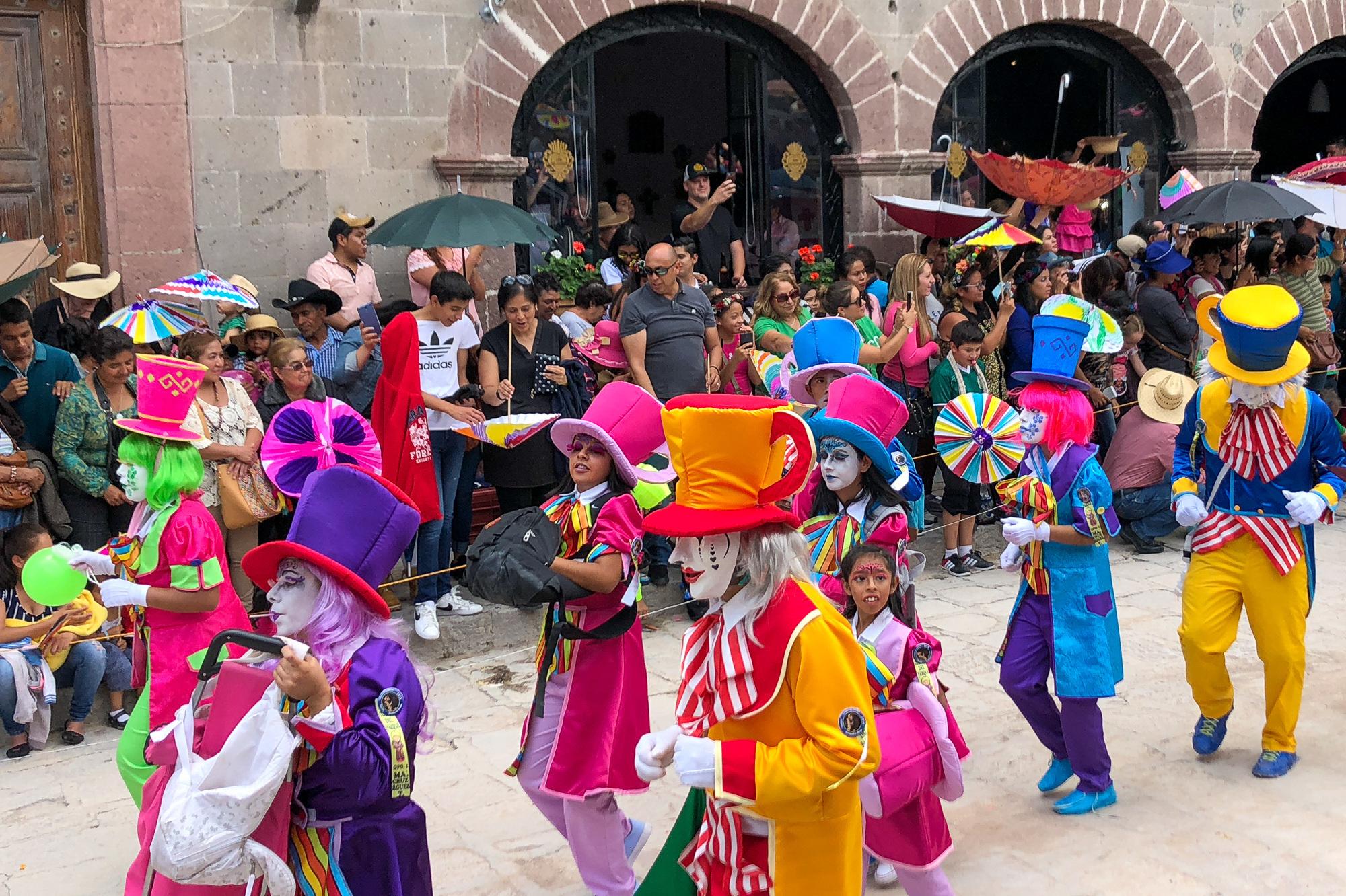 Dia de los Locos Parade in San Miguel de Allende, Mexico