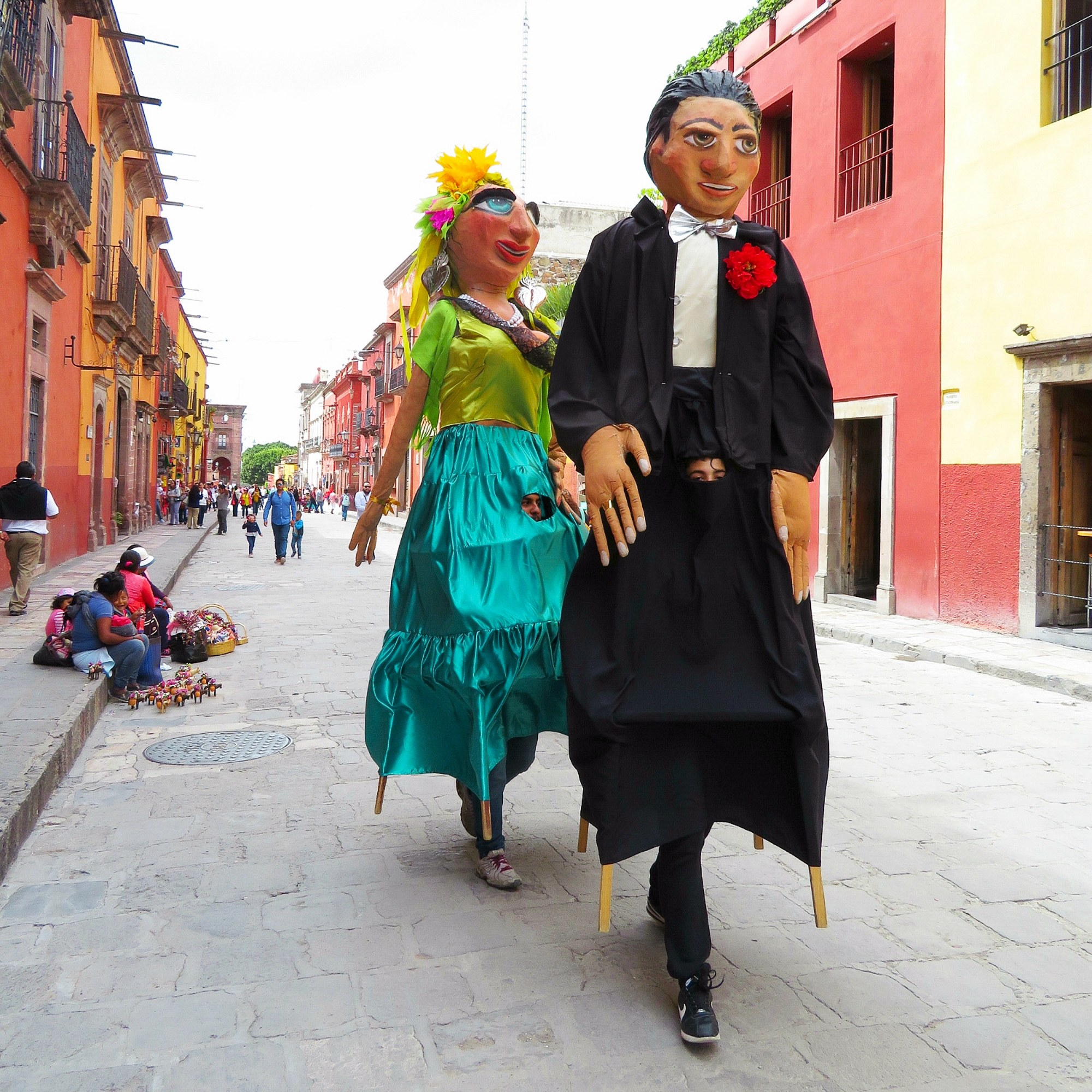 Mojigangas, celebratory life-sized puppets, in San Miguel de Allende