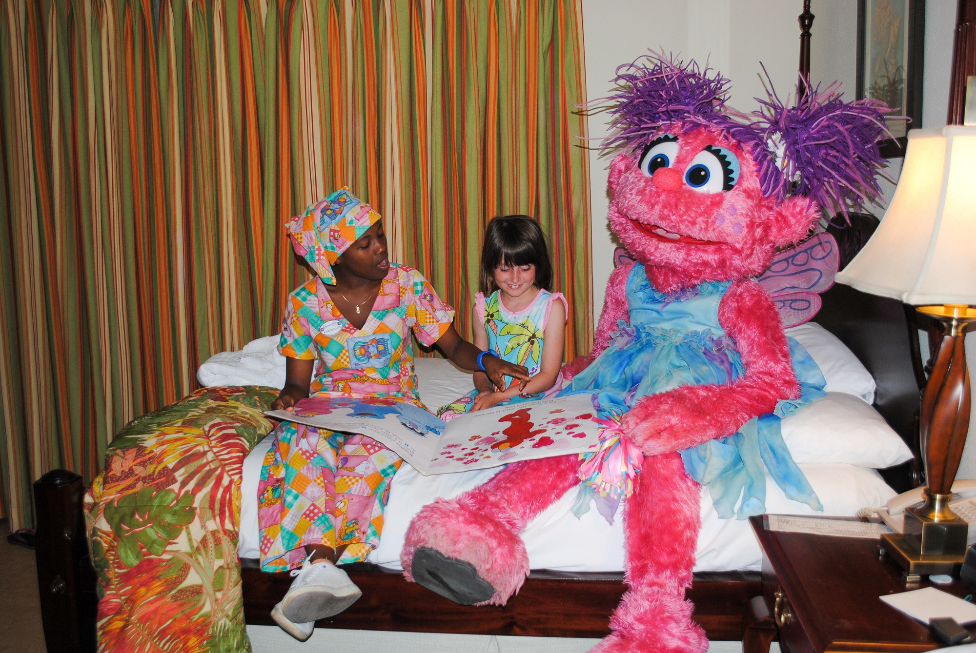 A bedtime character story and tuck-in with Sesame Street's Abby Caddabby